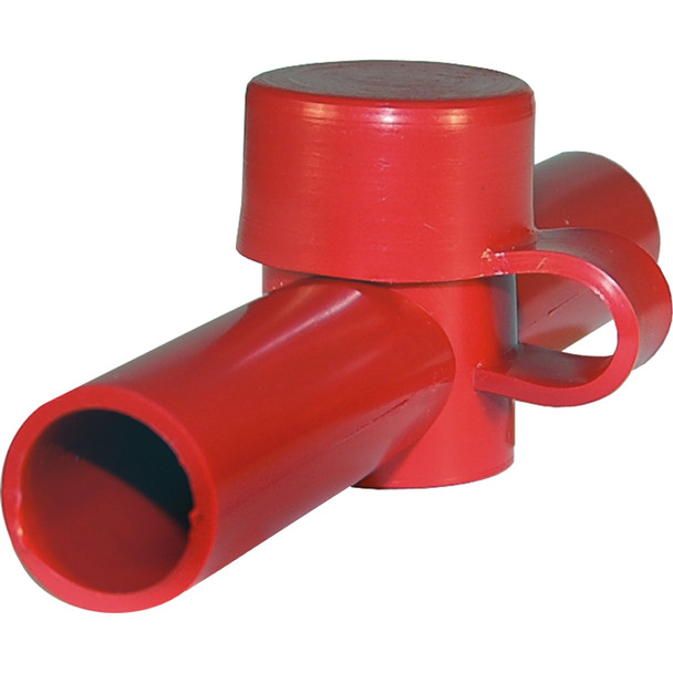 Blue Sea 4003 Cable Cap Dual Entry - Red