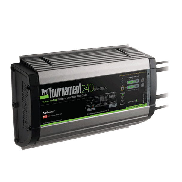 ProMariner ProTournament 240 elite Dual Charger - 24 Amp, 2 Bank
