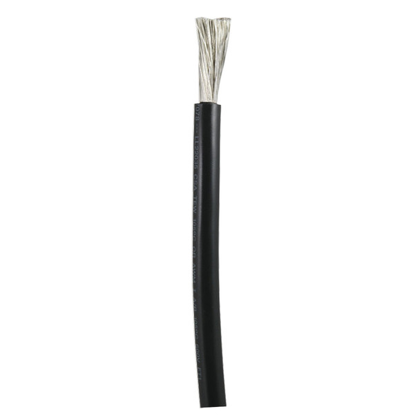 Ancor Black 1/0 AWG Battery Cable - Sold By The Foot