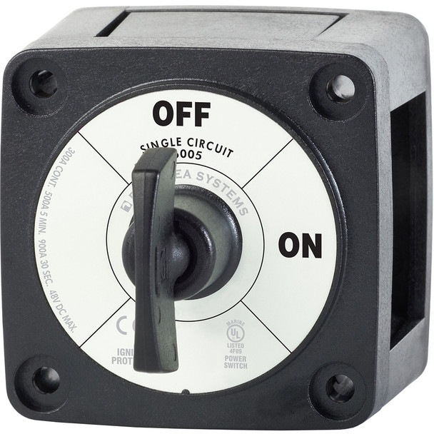 Blue Sea 6005200 Battery Switch Single Circuit ON-OFF - Black