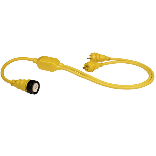 """Marinco RY504-2-30 50A Female to 2-30A Male Reverse """"Y"""" Cable"""