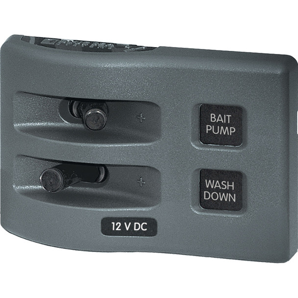 Blue Sea 4303 WeatherDeck 12V DC Waterproof Switch Panel - 2 Position
