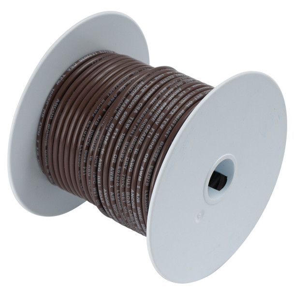 Ancor Brown 14AWG Tinned Copper Wire - 100'