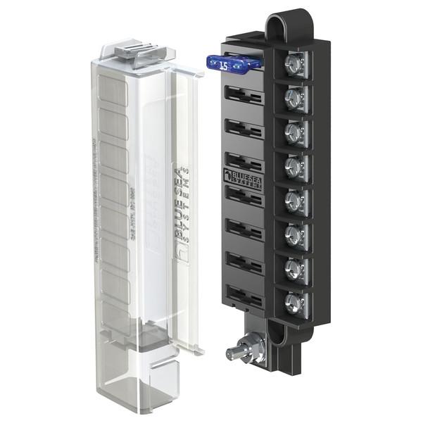 Blue Sea 5046 ST Blade Compact Fuse Blocks - 8 Circuits w/Cover