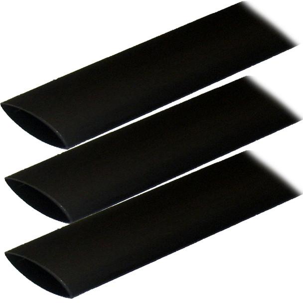 "Ancor Adhesive Lined Heat Shrink Tubing (ALT) - 1"" x 3"" - 3-Pack - Black"