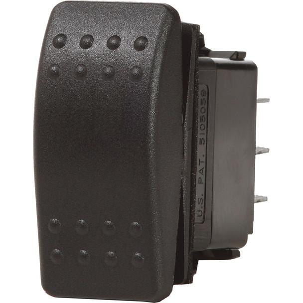 Blue Sea 7935 Contura II Switch DPST Black - OFF-(ON)