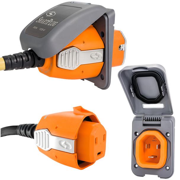 SmartPlug 30 Amp Non Metallic Gray Inlet & Plug Combo - Boat & RV