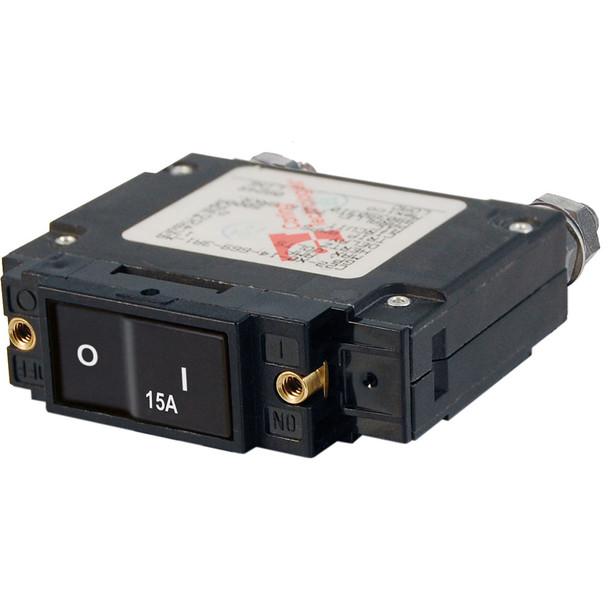 Blue Sea 7542 C-Series Flat Rocker Circuit Breaker - Single Pole - 15A