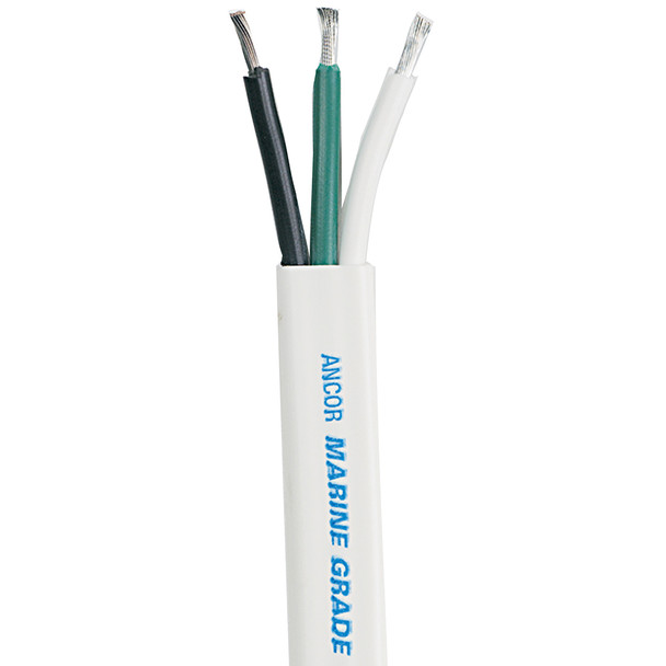 Ancor White Triplex Cable - 14/3 AWG - 500'