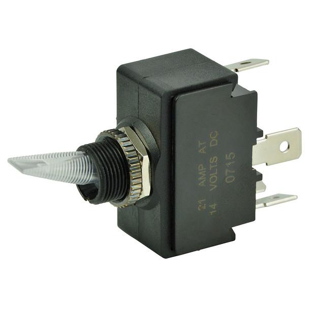 BEP SPST Lighted Toggle Switch - Red LED - 12V - ON/OFF