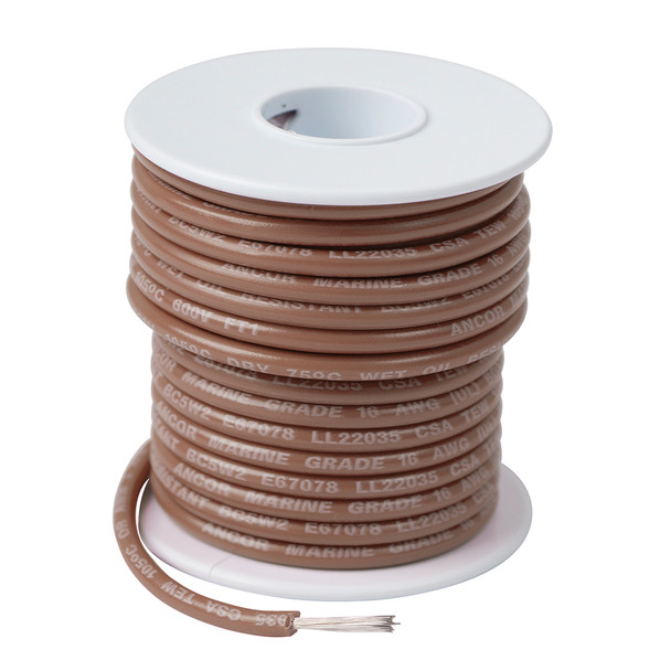 Ancor Tan 16 AWG Tinned Copper Wire - 100'