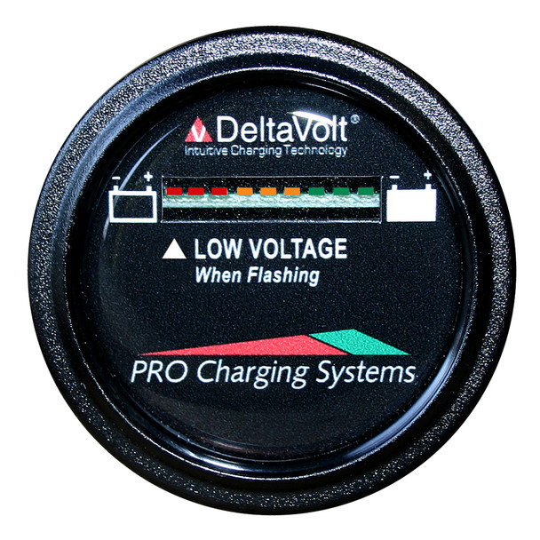 Dual Pro Battery Fuel Gauge - DeltaView Link Compatible - 36V System (3-12V Batteries, 6-6V Batteries)