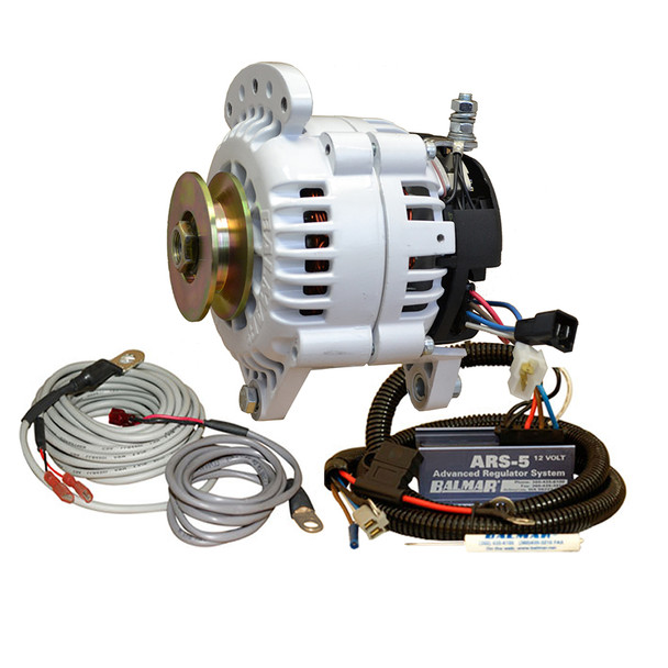 Balmar 60 Series Alternator - Saddle Mount(Dual Foot) Charging Kit - 70A - 12V