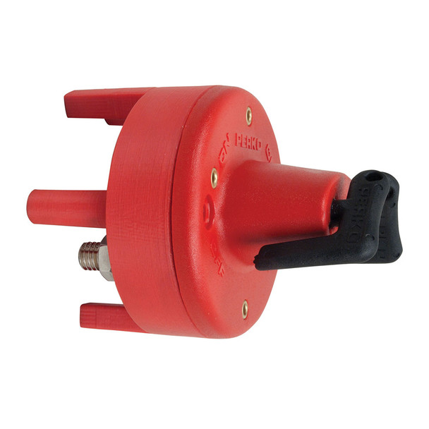 Perko Dual Battery Switch w/Mounting Ring & Legs - Bulkhead Mount