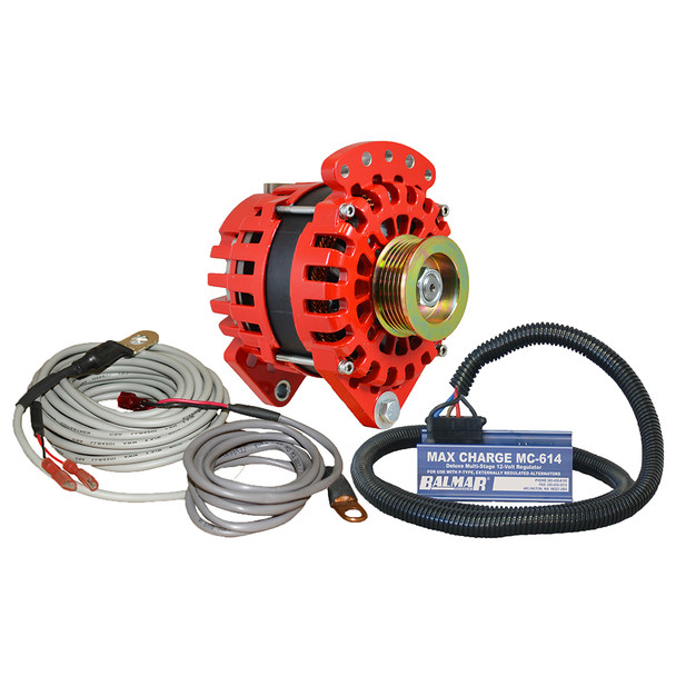 "Balmar Alternator 3.15"" Dual Foot Saddle K6 Serpentine Pulley Regulator & Temp Sensor - 170A Kit - 12V"
