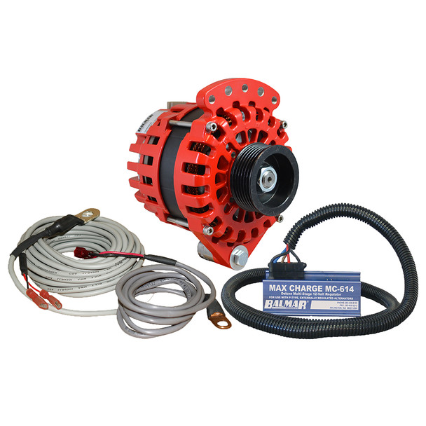 "Balmar Alternator 1-2"" Single Foot K6 Serpentine Pulley Regulator & Temp Sensor - 170A Kit - 12V"