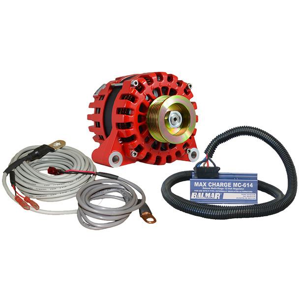Balmar Alternator Vortec K6 Serpentine Pulley Regulator & Temp Sensor - 170A - 12V