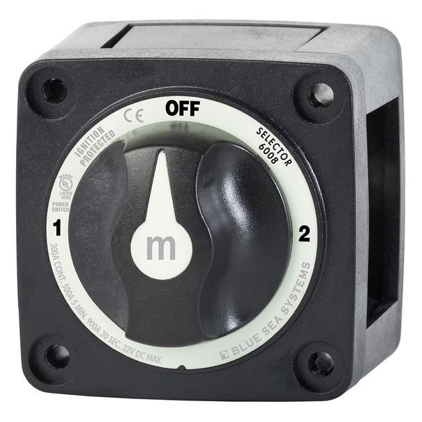 Blue Sea 6008200 m-Series Selector 3 Position Battery Switch - Black