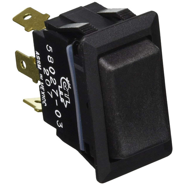 Cole Hersee Sealed Rocker Switch Non-Illuminated SPDT On-Off-On 3 Blade