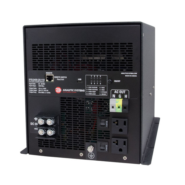 Analytic Systems AC Intelligent Pure Sine Wave Inverter, 2400W, 20-40V In, 110V Out