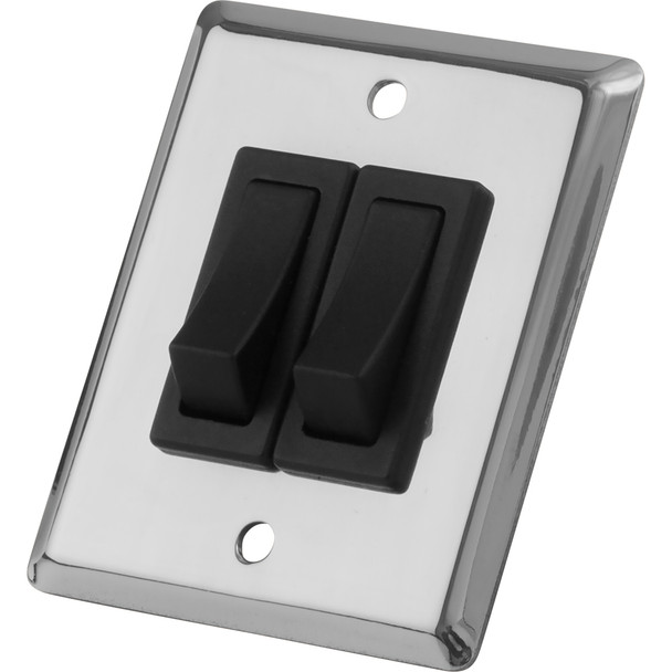 Sea-Dog Double Gang Wall Switch - Stainless Steel