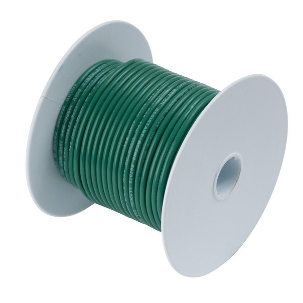 Ancor Tinned Copper Wire - 6 AWG - Green - 25'