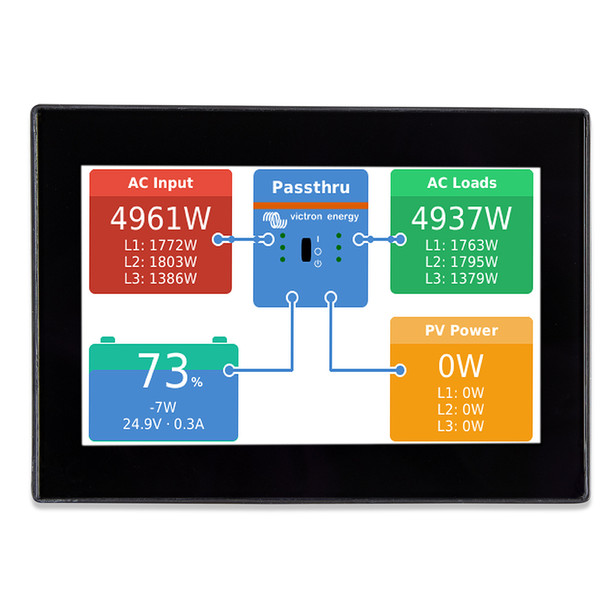 """Victron CanVu GX Monitor - 4.3"""" Color Touch Screen"""