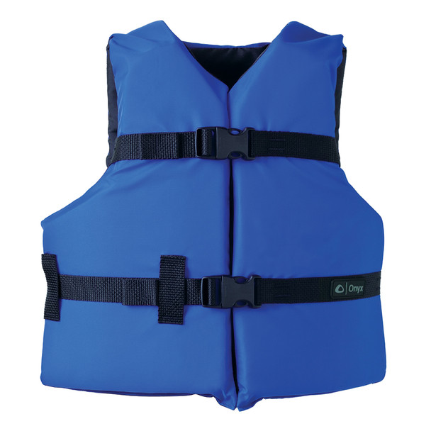 Onyx Nylon General Purpose Life Jacket - Youth 50-90lbs - Blue