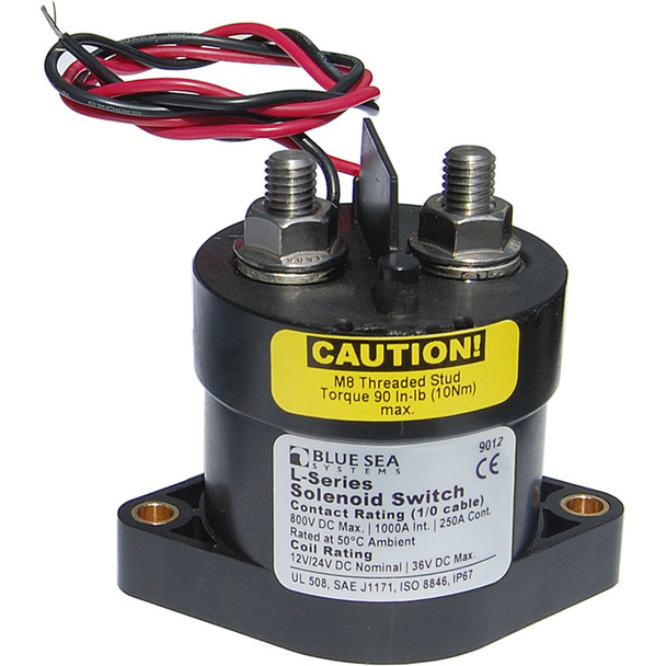 Blue Sea 9012 L Solenoid Switch - 12-24VDC - 250A