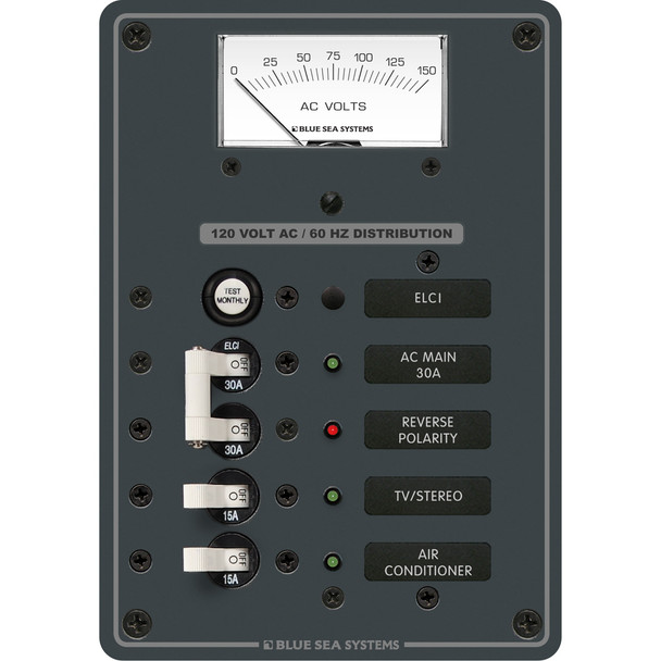Blue Sea 8102 ELCI GFCI Panel AC 2 Position
