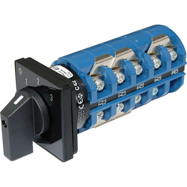 Blue Sea 9077 Switch, AC 240VAC 63A OFF +3 Positions