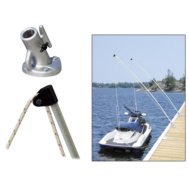 Dock Edge Economy Mooring Whips 2PC 12ft 4000 LBS up to 23 ft