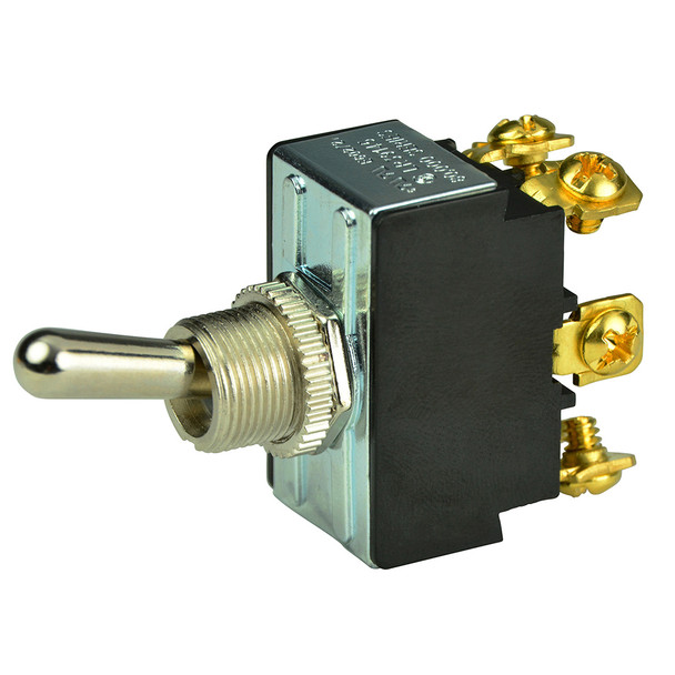 BEP DPDT Chrome Plated Toggle Switch - ON/OFF/ON