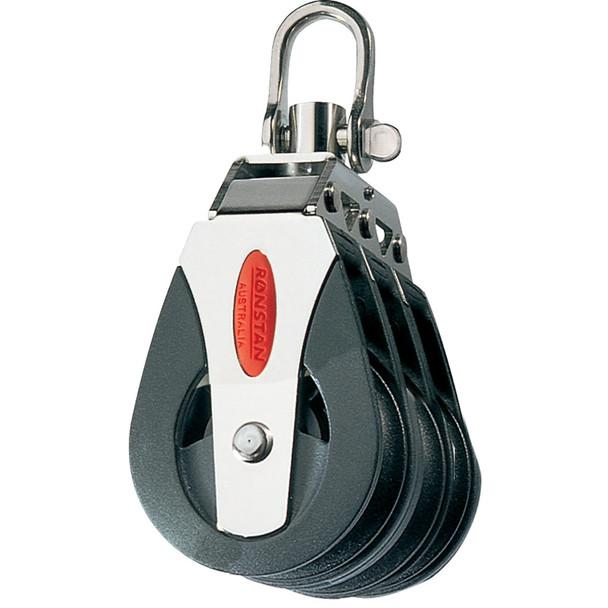 Ronstan Series 40 Ball Bearing Block - Triple - Swivel Head