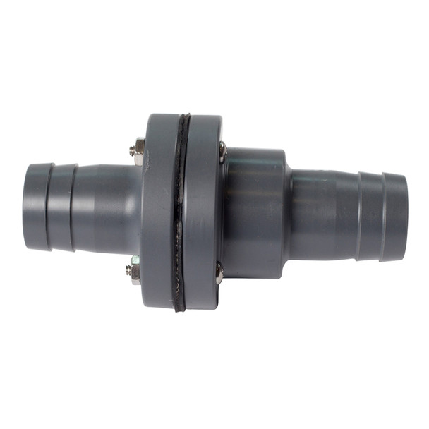 "FATSAC 1-1/8"" Barbed In-Line Check Valve w/O-Rings f/Auto Ballast System"