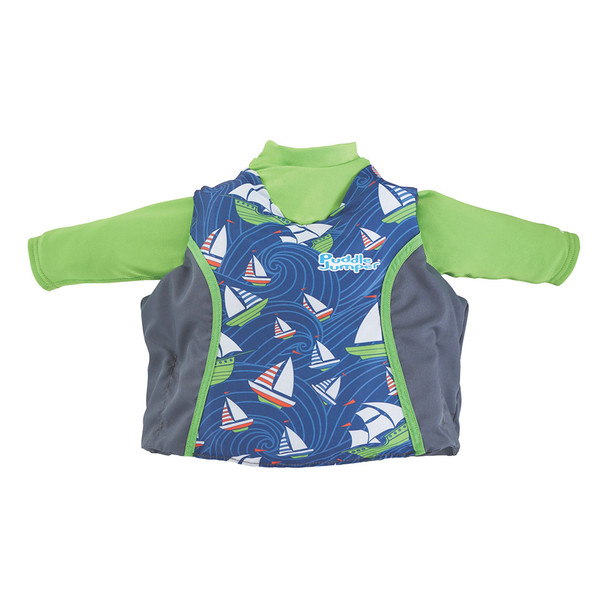 Puddle Jumper Kids 2-in-1 Life Jacket & Rash Guard - Sailboards - 33-55lbs