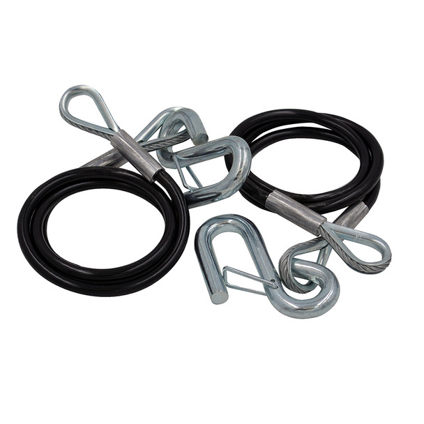 C.E. Smith Safety Cables - 3500lb Capacity - PVC Coated - Pair