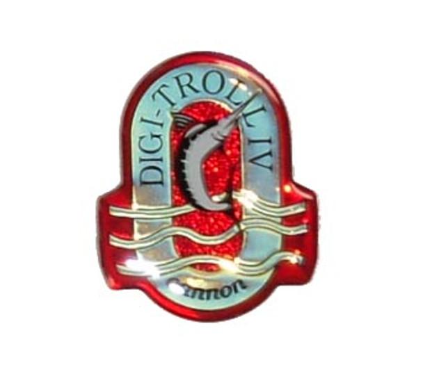 Cannon Downrigger Part 5527004 DECAL EMBLEM NOSE DT IV