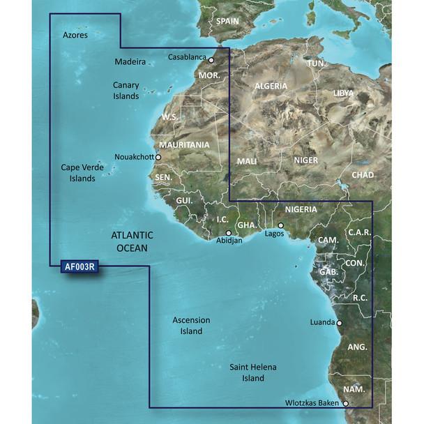 Garmin BlueChart g2 Vision HD - VAF003R - Western Africa - microSD/SD