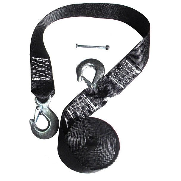 Rod Saver Winch Strap Replacement w/Safety Strap - 16'
