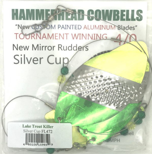 Hammerhead Custom Cowbell Spinners - 4/0 - Lake Trout Killer - FL472