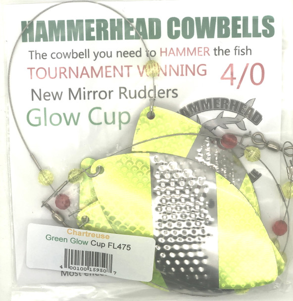 Hammerhead Custom Cowbell Spinners - 4/0 - Chartreuse - FL475