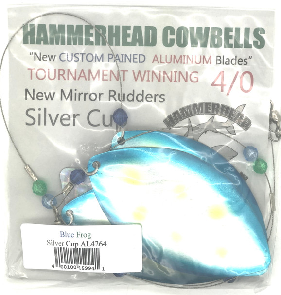 Hammerhead Custom Cowbell Spinners - 4/0 - Blue Frog - AL4264