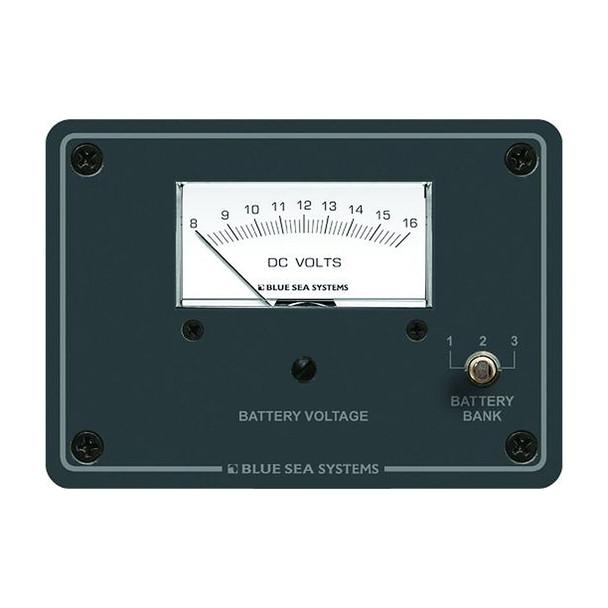 Blue Sea 8015 DC Analog Voltmeter w/Panel
