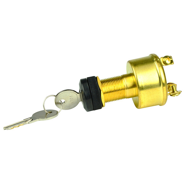 BEP 3-Position Brass Ignition Switch - OFF/Ignition/Start