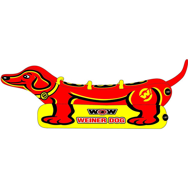 WOW Watersports Weiner Dog 3 Towable - 3 Person