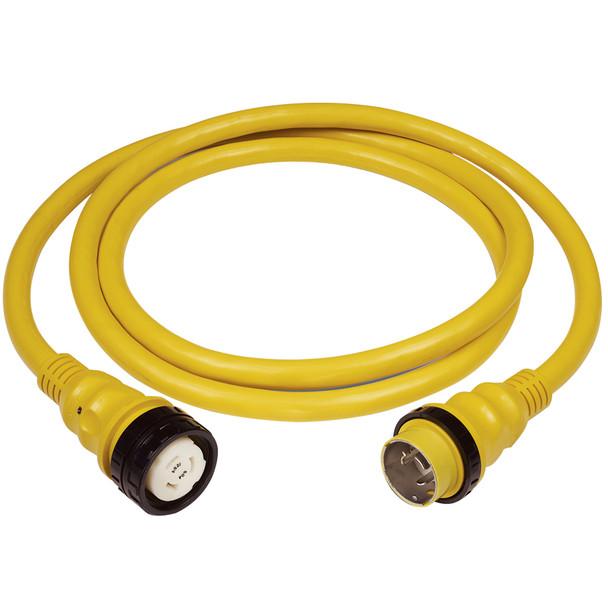 Marinco 50Amp 125/250V Shore Power Cable - 25' - Yellow