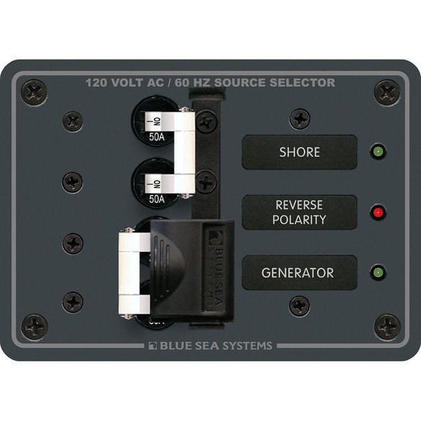 Blue Sea 8061 AC Toggle Source Selector 120V AC - 50AMP