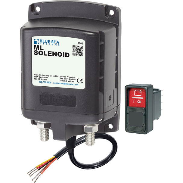 Blue Sea 7701 ML-Series Solenoid w/Contura Switch 12VDC