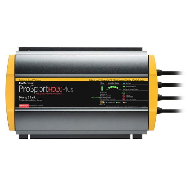 ProMariner ProSportHD 20 Plus Global Gen 4 - 20 Amp - 3-Bank Battery Charger